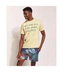 """camiseta masculina pipe tal pai tal filho  the same people..."""" manga curta amarela"""""""