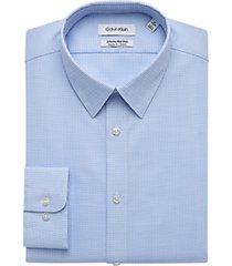 calvin klein infinite non-iron blue mist modern fit stretch dress shirt