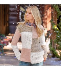 claudia colorblock pullover