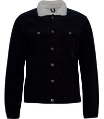 corduroy jacket jeansjack denimjack blauw lindbergh