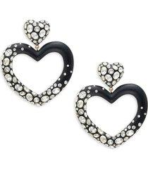 alexis bittar women's lucite & crystal heart drop earrings