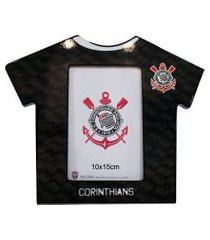 porta retrato minas de presentes camisa futebol foto 10x15cm - corinthians preto