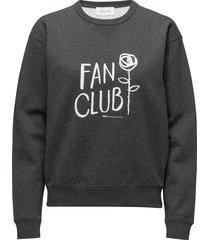 flora sweatshirt sweat-shirt trui grijs wood wood