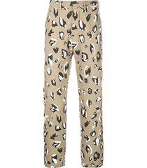 charles jeffrey loverboy teddy straight-leg trousers - multicolour