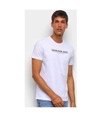 camiseta calvin klein jeans manga curta masculina