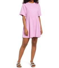 bp. babydoll organic cotton t-shirt dress, size xx-small in purple tulip at nordstrom