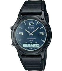reloj aw-49he-2a casio negro