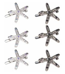 women's magnetic starfish hair clip set, pack of 6
