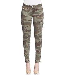 camo-print skinny cargo pants