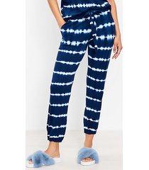 loft tie dye striped pajama joggers