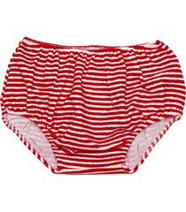 red striped sponge girl swim bottom brief