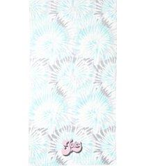 """juicy couture tie dye pinwheels beach towel, 36"""" x 68"""" bedding"""