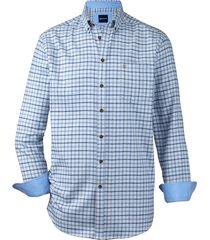 overhemd babista blauw::bruin