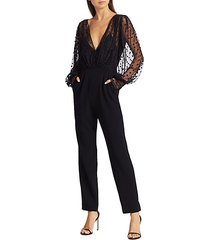 bernadette sheer polka dot jumpsuit
