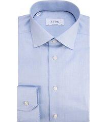 eton contemporary fit overhemd met lange mouwen licht blauw
