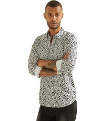 camisa ls luxe doodle floral blanco guess
