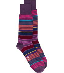 paul smith striped fitted socks - purple