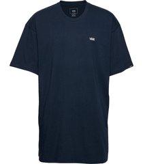 left chest logo tee t-shirts short-sleeved blå vans