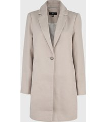 abrigo missguided beige - calce regular