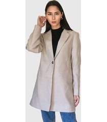 abrigo missguided beige - calce regular