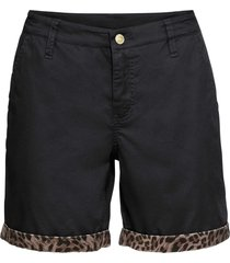 pantaloni chino corti con satin (nero) - bodyflirt boutique