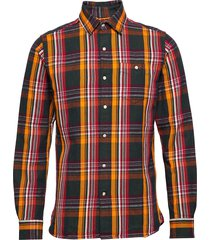 long sleeve heavy twill checked shi overhemd casual multi/patroon knowledge cotton apparel