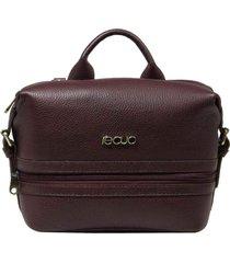 bolsa mochila de couro recuo fashion bag marsala