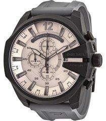 reloj para hombre diesel dz4496 negro-gris pulso silicona