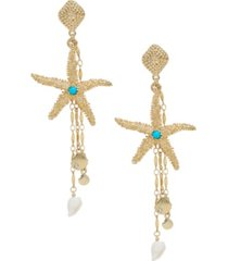 ettika starfish seeker drop earrings