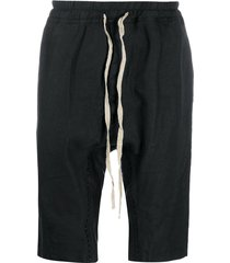 isaac sellam experience drawstring drop-crotch shorts - black