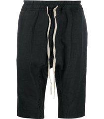 isaac sellam experience drawstring drop-crotch shorts - black