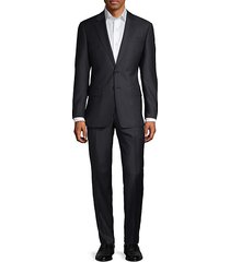 classic-fit micro-weave wool suit