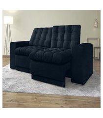 sofá 3 lugares titan assento retrátil e reclinável petroleo 2,00m - netsofas