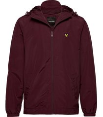 zip through hooded jacket dun jack rood lyle & scott