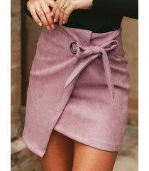 falda lisa de ante diseño