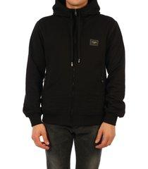 dolce & gabbana cotton hoodie black