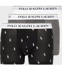 polo ralph lauren classic trunk 3-pack boxershorts charcoal