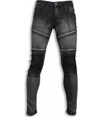 skinny jeans true rise biker jeans - slim fit biker knees jeans -