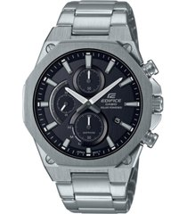 edifice analog slim stainless steel solar powered bracelet watch 49mm