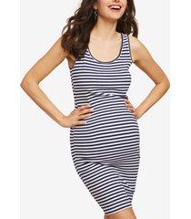 motherhood maternity ribbed sheath dress