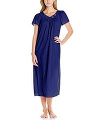 miss elaine petite embroidered long nightgown