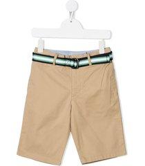 ralph lauren beige jersey bermuda shorts with belt