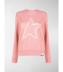 golden goose star-motif printed sweatshirt