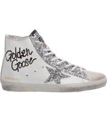 scarpe sneakers alte donna in pelle francy