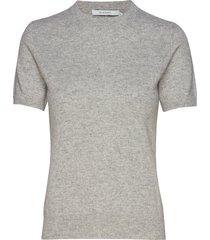 josefa ss cashmere knit t-shirts & tops short-sleeved grijs andiata