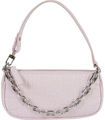 by far mini rachel croco embossed shoulder bag