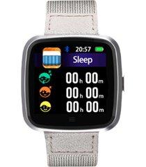 smartwatch reloj inteligente g12 deportivo beige lhotse