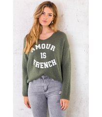 amour is french trui legergroen