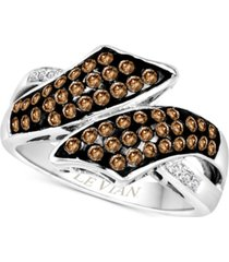 le vian chocolatier diamond bypass ring (5/8 ct. t.w.) in 14k white gold