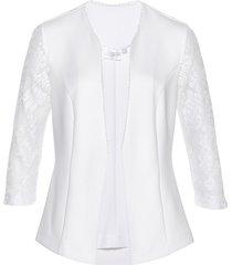 blazer in jersey con pizzo premium (bianco) - bpc selection premium